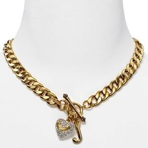 Juicy Couture Gold Pave Starter Necklace Authentic